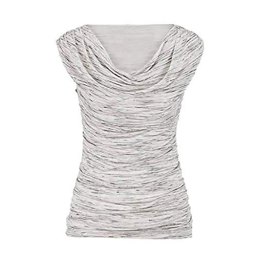 SUMTTER Weste Bluse Vest Blouse Hemdbluse Tops Damen Pullover ärmellos Rundhalsausschnitt Bluse Damen Casual Schlank abnehmen Tops