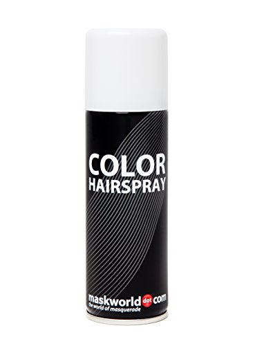 Maskworld Color Hairspray - farbiges Haarspray bunt Colorspray (Weiß)
