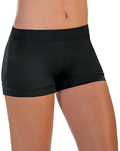 Motionwear Banded-Leg Boy-Cut Shorts, Damen, 7141, schwarz, X-Large Adult - Adult Boy Cut