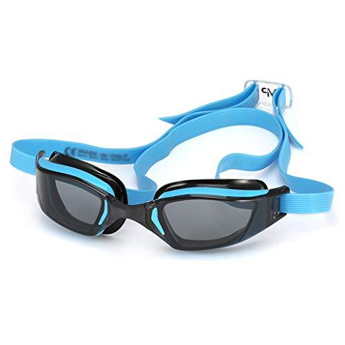 Schwimmbrille Professionelle Wettkampf wasserdichte Anti-Fog- Und Anti-UV Triathlon-Schwimmen (Color : Blue, Size : 17 * 6.2 * 8.5cm)