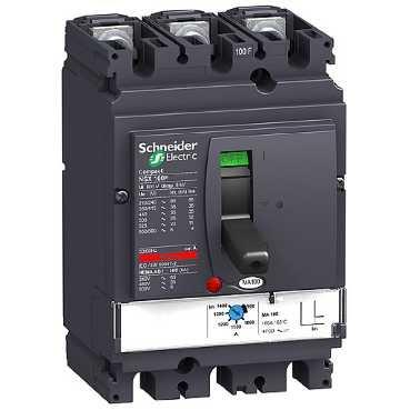 SCHNEIDER ELEC PBT - PAC 05 02 - INTERRUPTOR CONTROL MAGNETICO NSX100F MA12 5 3 POLOS 3R