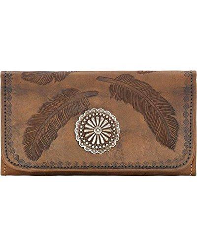 American West ,  Damen-Geldbörse, Sacret Bird - Charcoal Brown (braun) - 7583282 (West American Geldbörse)