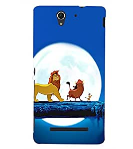 PRINTSHOPPII CARTOON Back Case Cover for Sony Xperia C3 Dual D2502::Sony Xperia C3 D2533