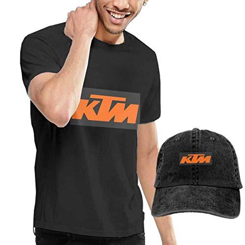 Herren Kurzarmshirt Customized Logo T Shirt with Hats for Man 100% Organic Cotton O-Neck Black (Klasse 8. Geschenke Graduierung)