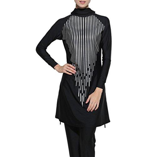 Dame Islamische Muslime Full-Cover-Bademode Frauen Modest Beachwear ()
