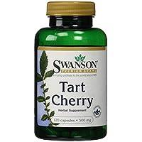 Swanson - Tart Cherry (Montmorency Sauerkirsche) 500mg, 120 Kapseln - 1000 mg pro Dosis - Besserer Schlaf, stärkeres... preisvergleich bei billige-tabletten.eu
