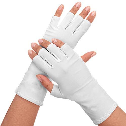 guanti manicure 1Pair Nails UV Shield guanto anti Uv guanto Sunblock Protection Shield che guida i guanti Manicure Nail Art Tools Dryer