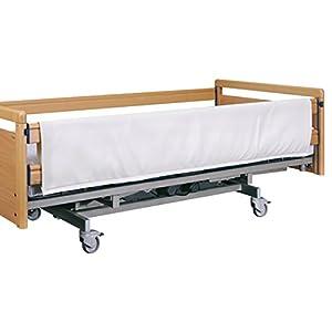 FabaCare Seitengitterpolster für Pflegebett, Polsterung für Seitengitter, hochwertiges Kunstleder mit Schaumstoff