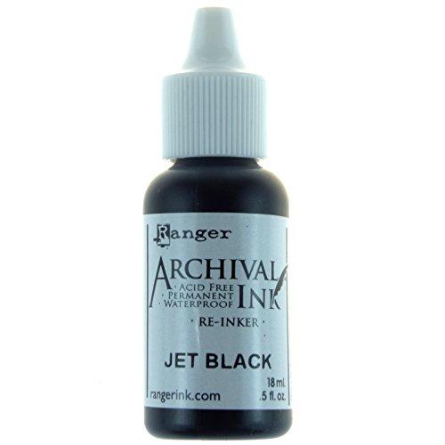 Archivierung Pad re-inkers Ranger Industries Archivierung re-inker, Jet Schwarz (Black Ink Pad)