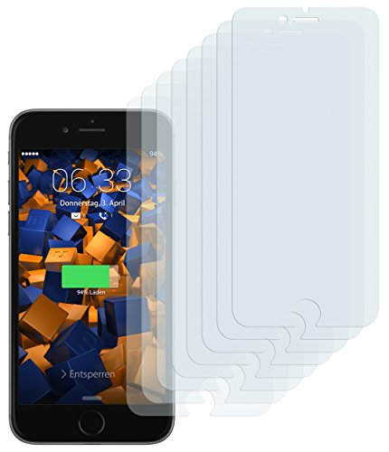 mumbi 8 x Displayschutzfolie für iPhone 8 Plus / 7 Plus Folie Schutzfolie