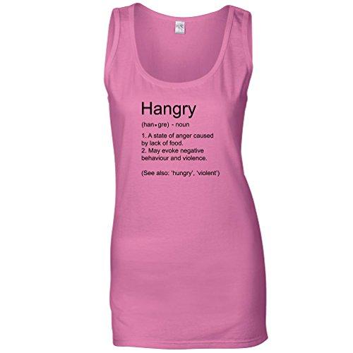 Tim and Ted Definizione Hangry Non Vorrei Me quando Sono Affamato Cibo Divertente Maglia delle Donne Pink