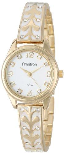 armitron-femme-75-5164wtgp-swarovski-crystal-accented-gold-tone-white-enamel-bangle-montre