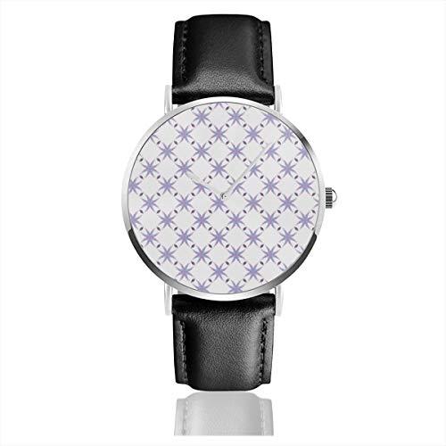 Armbanduhr, Quarzuhr, Gardenia, Casual Watches für Herren Damen mit schwarzem Leder -