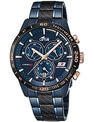 Lotus Marc Marquez édition limitée 2016hommes de montre à quartz avec affichage Chronographe Cadran bleu et Bracelet en Acier Inoxydable Plaqué Bleu 18330/1