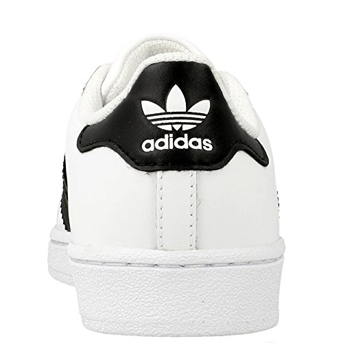 adidas Unisex-Kinder Superstar Foundatio Basketballschuhe, M White