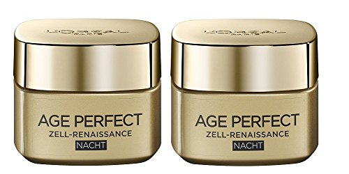 2 x L´OREAL LOREAL AGE PERFECT ZELL - RENAISSANCE Nacht 50 ml (2er Packung) New / OVP