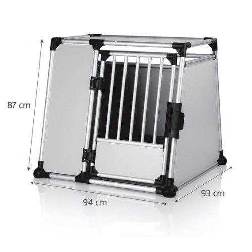 hundeinfo24.de Alu-Hundetransportbox – Einzelbox Favorite – Größe 5