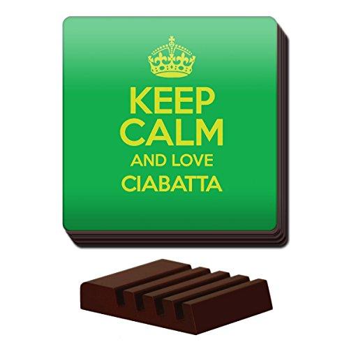 Duke Gifts Grün Set von 4Keep Calm und Love CIABATTA Untersetzer Farbe 2322
