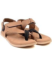 MAKERZ Tan Synthetic Sandals - B07467CZNP