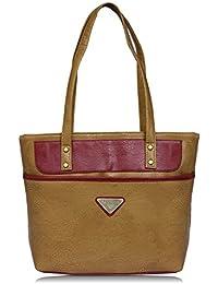 Fantosy Beige And Maroon Women Shoulder Bag (beige And Maroon) (FNb-792)