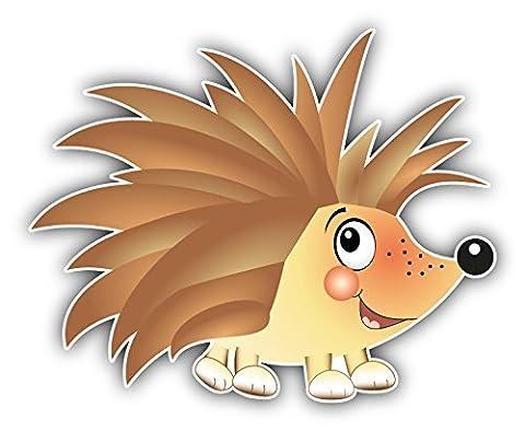 Funny Hedgehog Baby Toy Decor Autocollant De Voiture Vinyle 12 X 10 cm