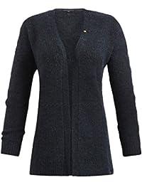 khujo Damen Strickjacke LARISSA blauer Feinstrick-Cardigan Baumwolle SALE 60/%