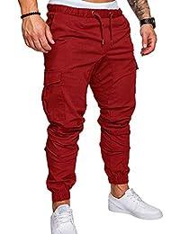 quality design d9a19 a1bc0 SOMTHRON Homme Ceinture élastique à long coton Jogging pantalons de  survêtement Plus la taille Mode Sport