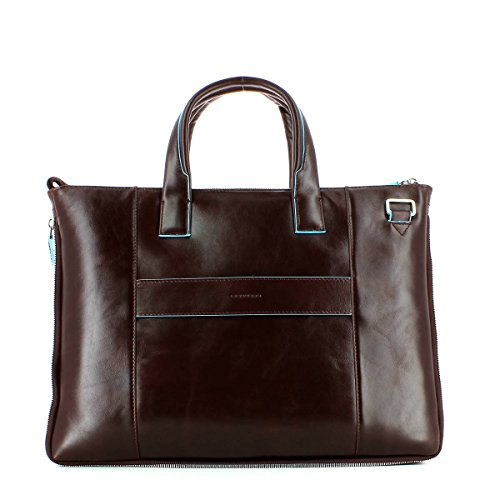 Piquadro Blue Square Business Tasche Leder 42 cm Laptopfach Mahagoni