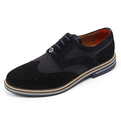 C2294 scarpa inglese uomo BRIMARTS scarpe blu fondo gomma shoe man Blu