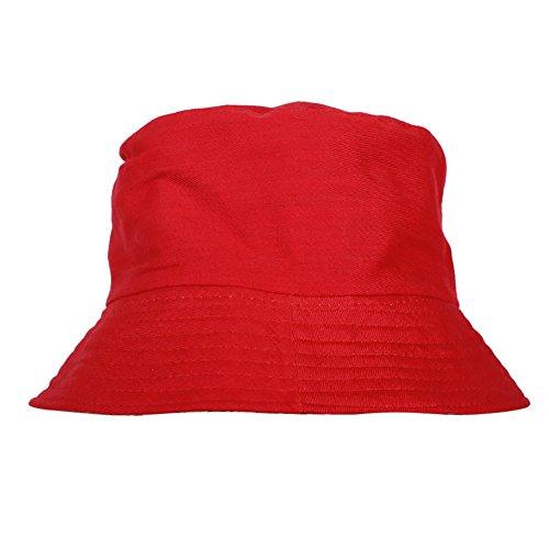 Wingbind Unisex Baumwolle Bucket Hat Sommer Angeln Boonie Beach Sun Cap - Volltonfarbe Reversible Portable Reverse Zwei Seiten faltbar Pink Angel Hat