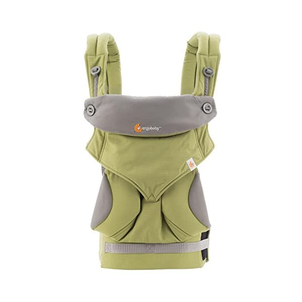Ergobaby baby carrier collection 360 (5.5 - 15 kg), Green Ergobaby 4 ergonomic wearing positions: front-inward, front-outward, hip and back carry Structured bucket seat keeps baby seated in the anatomically correct frog-leg position Exceptionally comfortable thanks to adjustable, extra-wide waistband to support the lower back 3