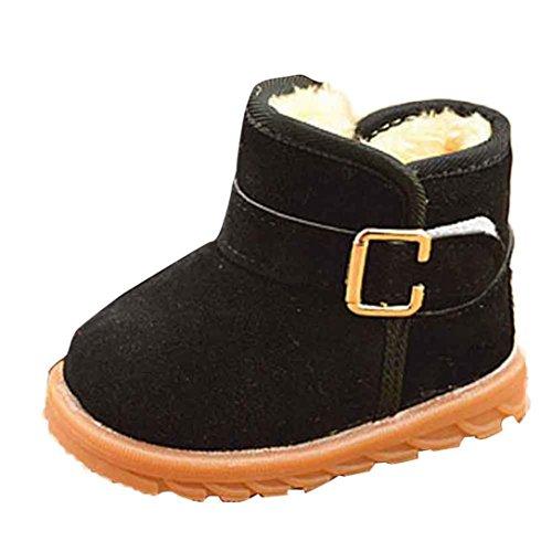 Babyschuhe,Sannysis Mode Winter Baby Kind Schuhe Baumwolle Stiefel warme Schneeschuhe 12-36Monat (21, Schwarz)