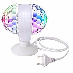 Partylicht LED, GLISTENY Discolicht Party Beleuchtung Discokugel Licht Lichteffekte RGB 3W Bühnenbeleuchtung Kristall Magic Ball Bunte Drehende Lampe für KTV Disco Stab DJ Ballsaal