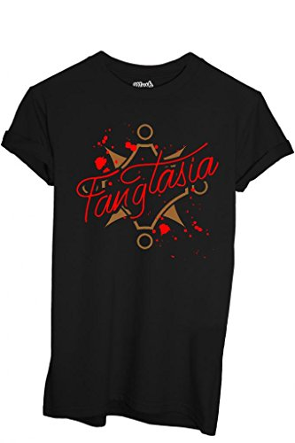 MUSH T-Shirt Fangtasia Club True Blood - Film by Dress Your Style - Jungen-L Schwarz -