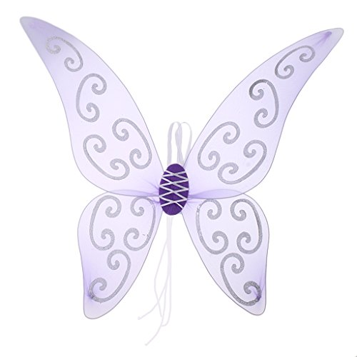 Sharplace Feenflügel Schmetterlingsflügel Zauberwelt Damen Mädchen Mädchenkostüm Feenkostüm - Lila / Rosa - Lila
