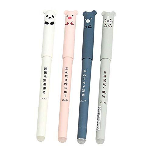 Gelschreiber, radierbar, leicht zu reiben, zufällige Farbauswahl