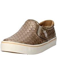U.S. Polo ASSN. - Calzado - Hombres zapatillas de deporte, zapatos deportivos sin cordones, tejidos de oro Cuero - GALAD4149S6-CL1