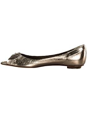 Scarpe donna ROBERTO DEL CARLO ballerine N.36 pelle open toe bronzo X1080