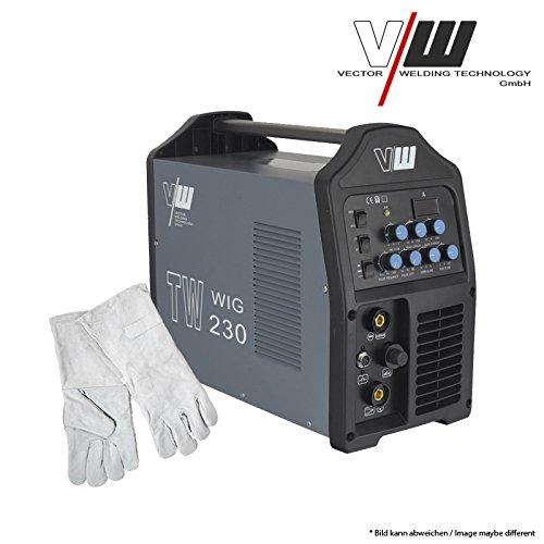 Schweißgerät WIG TW230 PULS + Handschuhe (OSFET /WIG ,TIG/PLUS/MMA, ARC/TOP PREIS/3 IN 1)