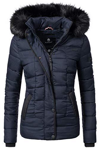 Beste Gesichts-stiftung (Marikoo Damen Winter Jacke Steppjacke Unique Blau Gr. S)