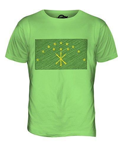 CandyMix Adygeja Kritzelte Flagge Herren T Shirt Limettengrün