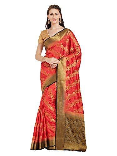 Viva N Diva Silk Cotton Saree (N-23808_Red_Free Size)