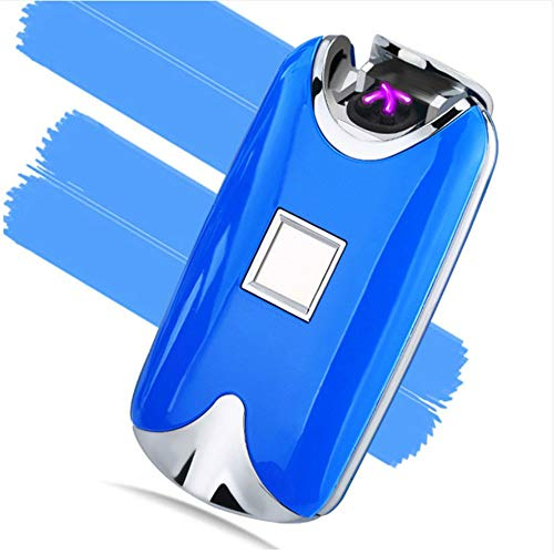 baijuxing Encendedor USB Inteligente Encendedor de Arco Doble Encendedor de Huellas Dactilares Metal de Carga a Prueba de Viento airless Encendedor de Cigarrillos, W