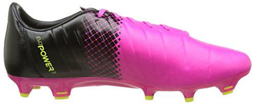 Puma Evopower 3 3 Fgs, Chaussures de Football Homme Multicolore (Pink Glo/Safety Yellow/Black)