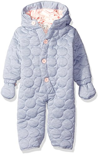Jessica Simpson Baby Girls' Circle Quilted Polyfilled Jersey Pram, Heather Grey, 24 Months -