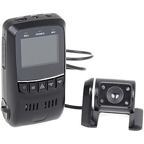 Uphig B40S Plus 2CH Objetivo Dual Car DVR Camera Dash Cam Video Caja Negra coche con Condensador Incorporado Registrador de Conducción de Coche Cámara de Coche 1080p Cámara