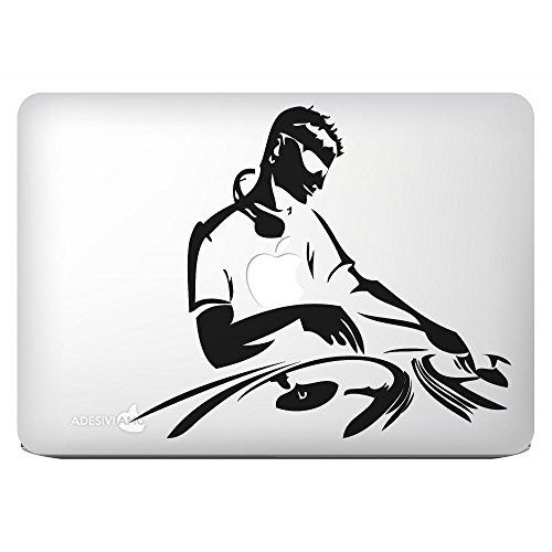 """Price comparison product image Sticker pre-spaced """"DJ at work"""" Vinyl Decal for all models Apple Macbook 15 pollici"""