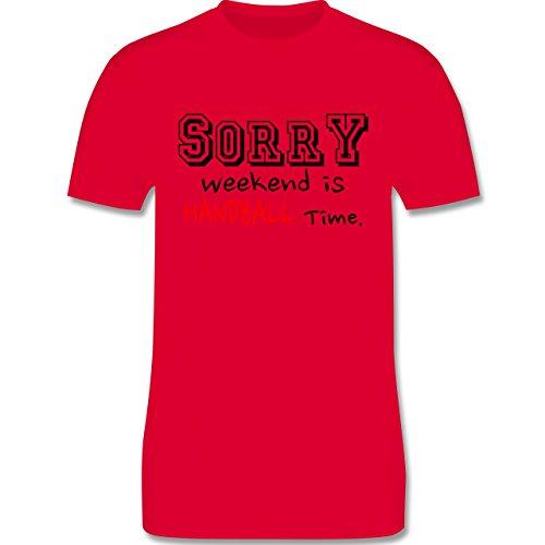 Handball - Sorry Weekend Is Handball Time - Herren Premium T-Shirt Rot