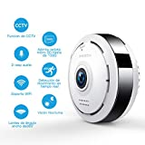 960P HD IP Wifi Cámara de Seguridad FREDI, Cámara de Vigilancia Panorámica de 360 grados, Deteccion de Movimiento con Visión Nocturna de Infrarrojos /2 way talking/para Monitorización Doméstica
