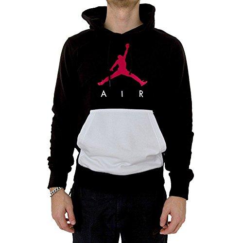 Jordan Kapuzenpullover – Sportswear Jumpman Air Lightweight schwarz/weiß/rot Größe: XS (X-Small) (Air Pullover)